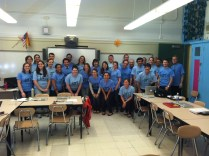 The whole school wears Pi Day tshirst in 2012