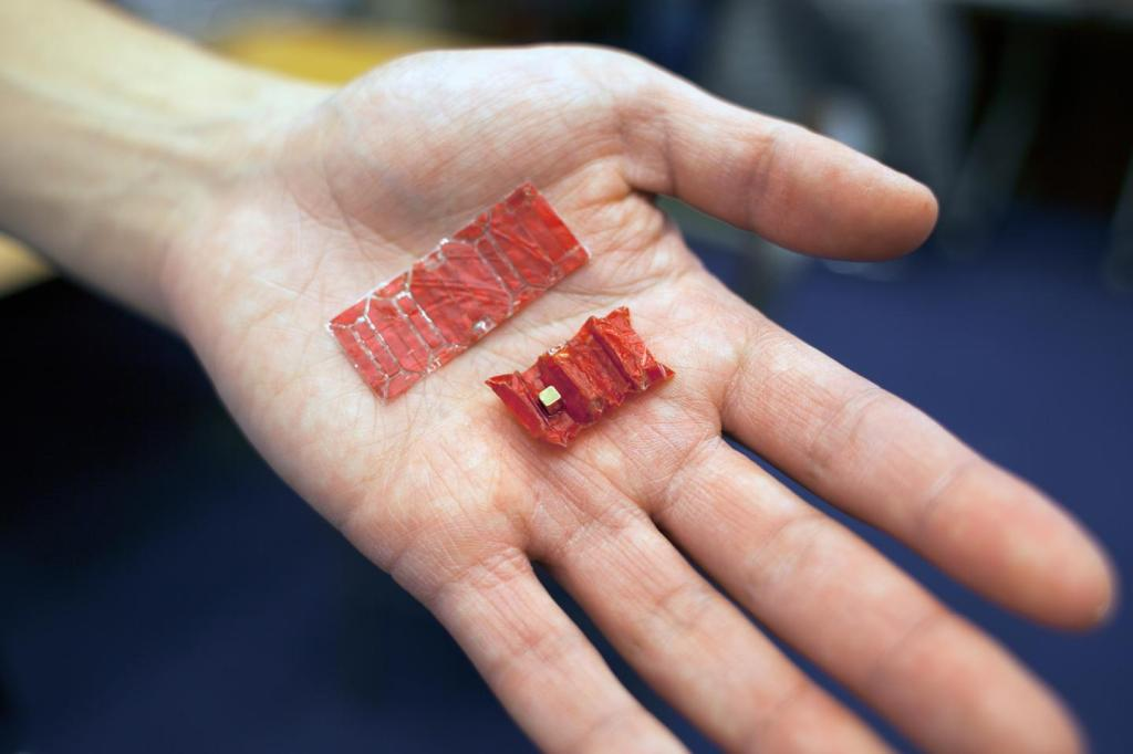 origami robot in hand