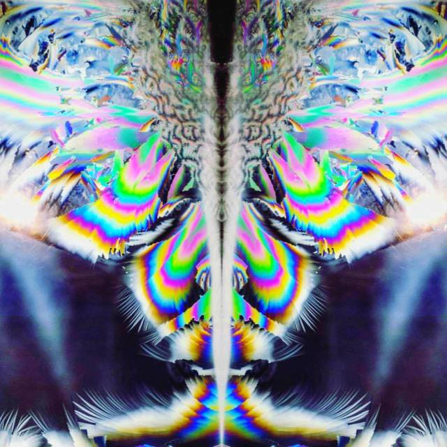 kaleidoscopic image that looks like a butterfly