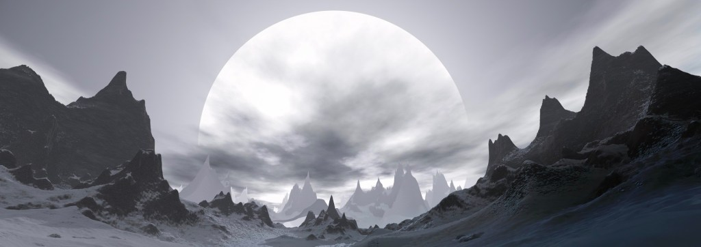 moon with mountains