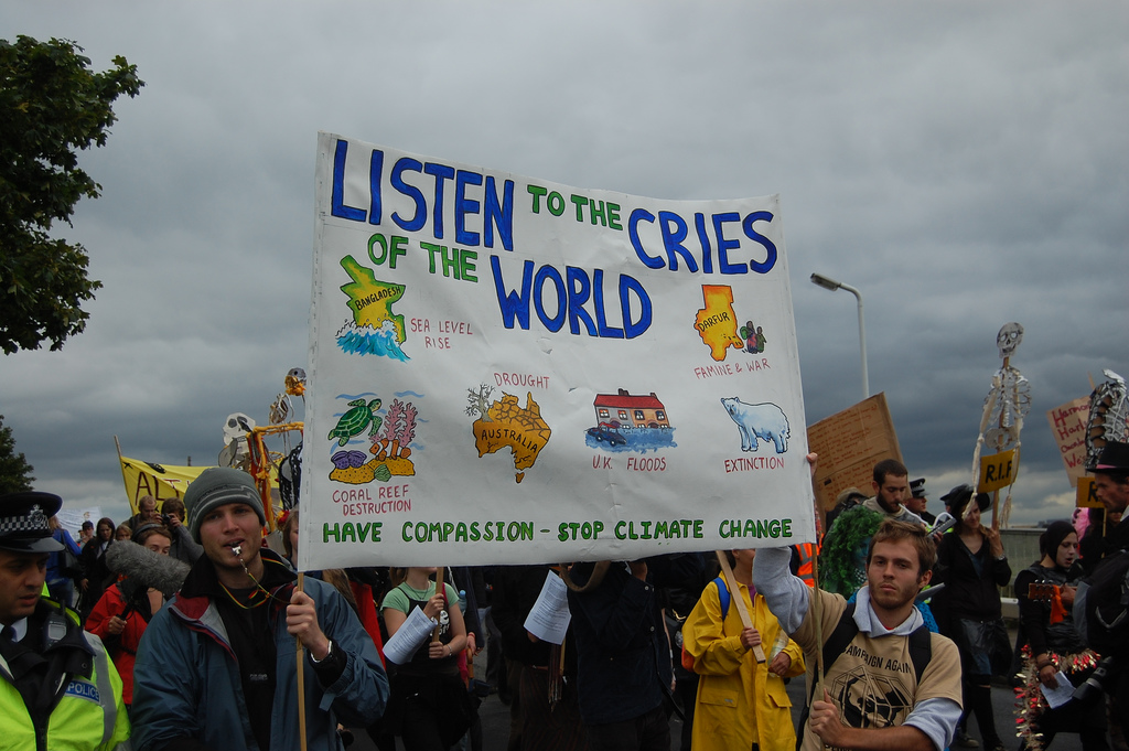 climate protest sign