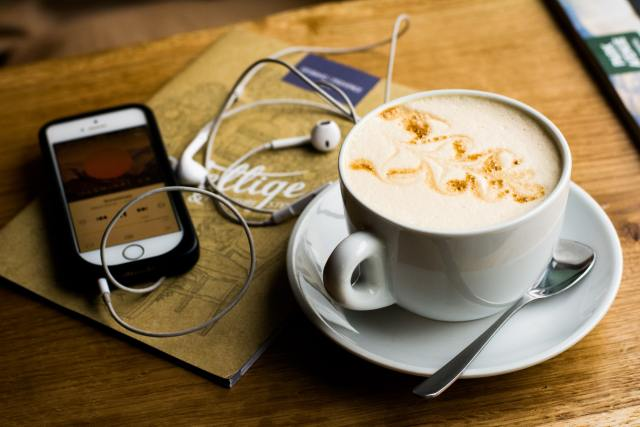 Podcasts and coffee