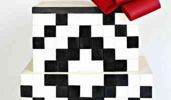 Black and White Geometric Cake Tutorial