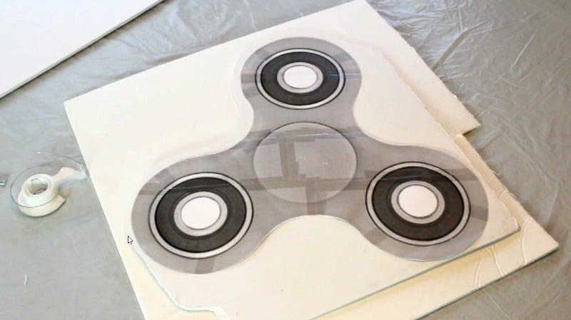 fidget spinner cake template