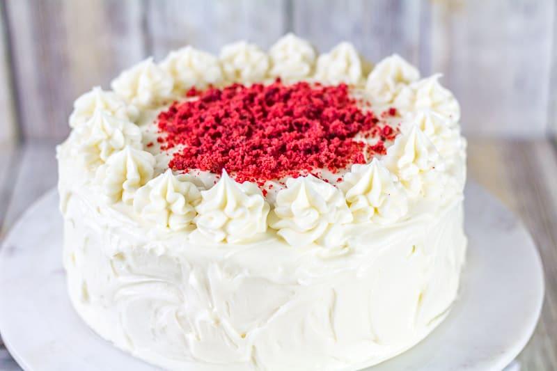 Sour Cream Red Velvet Cake