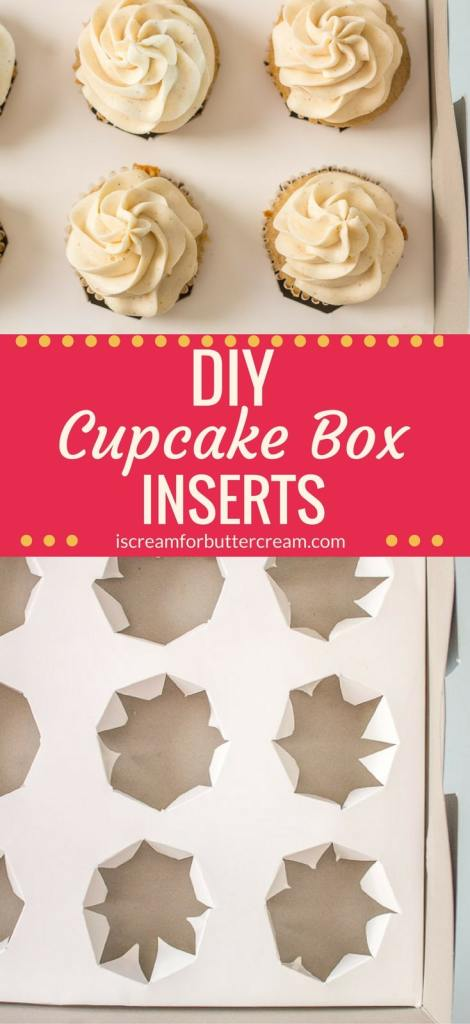 DIY cupcake box inserts pin graphic