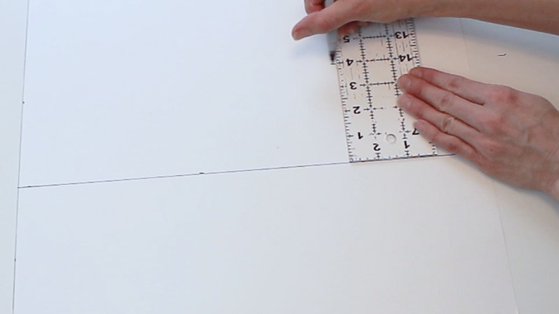 measure up 4 more inches on poster board