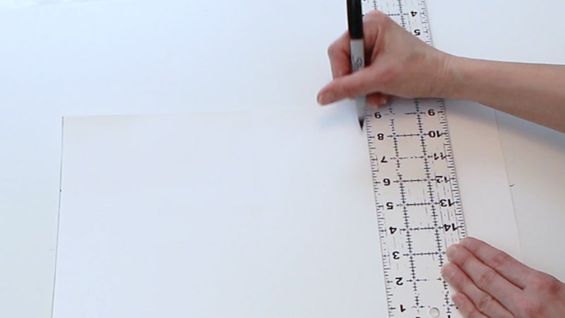measuring up 8 inches on poster board