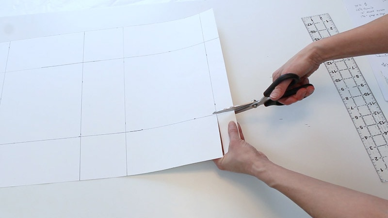 cutting off the top corners of the poster board