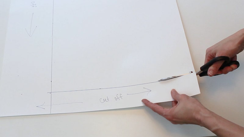 cutting the top of the poster board off