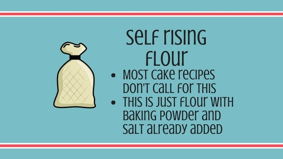Self rising flour information graphic