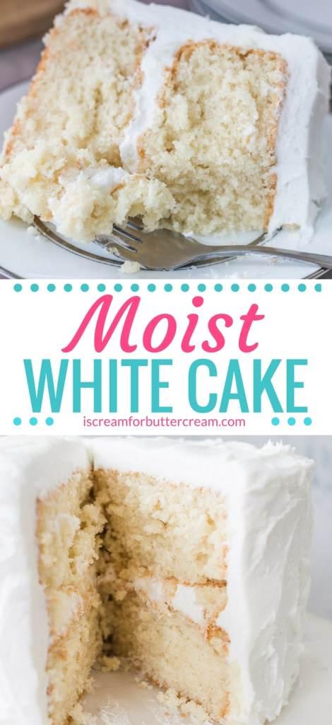 Moist White Cake Pinterest Graphic
