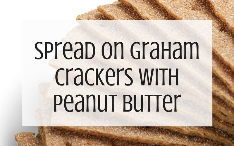 Use leftover buttercream on graham crackers graphic