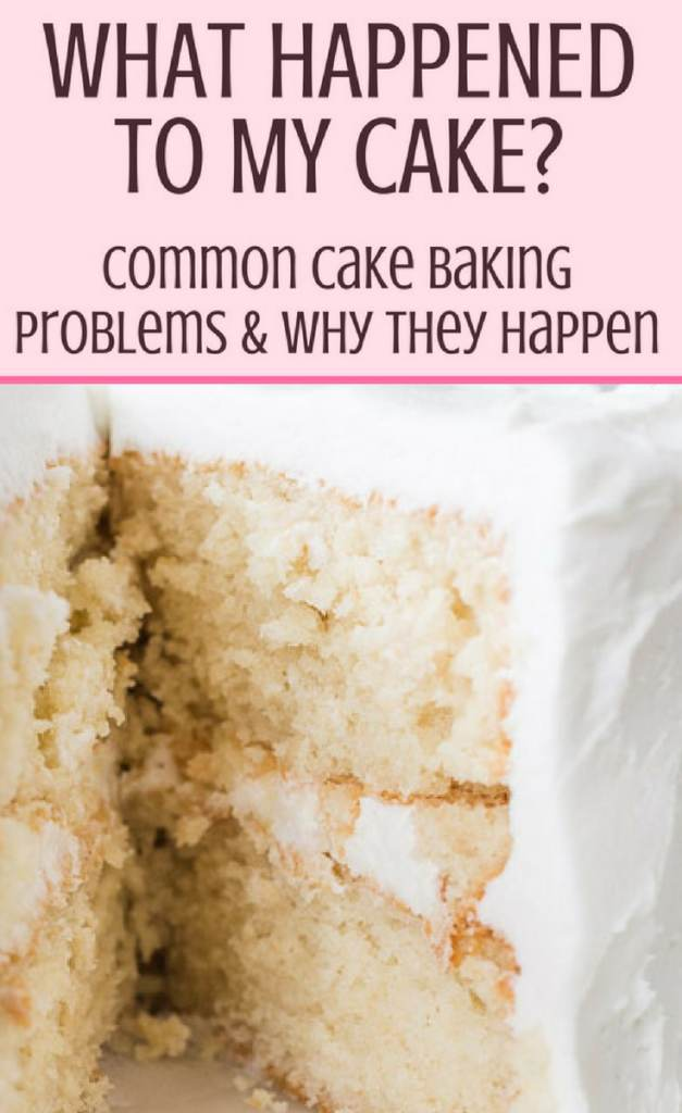 Common Cake Baking Problems Pin Graphic 2