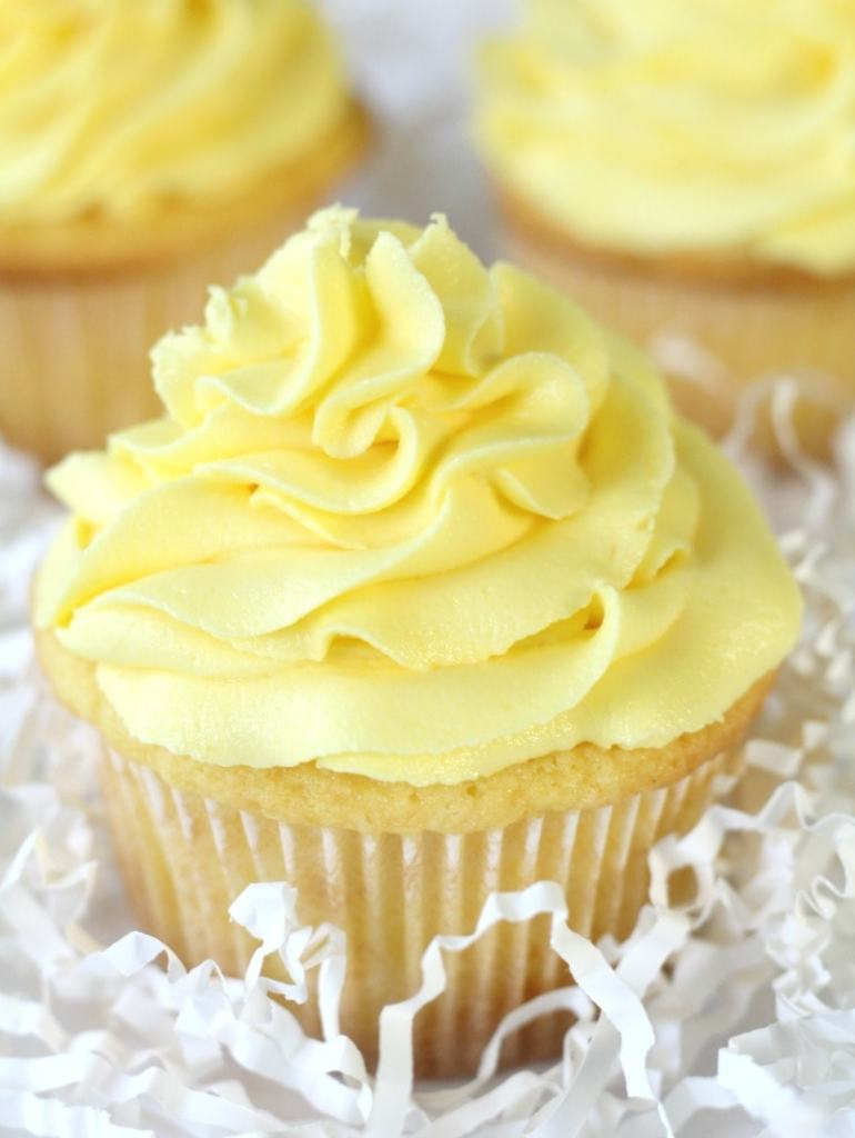 Buttercream Piped onto Cupcake
