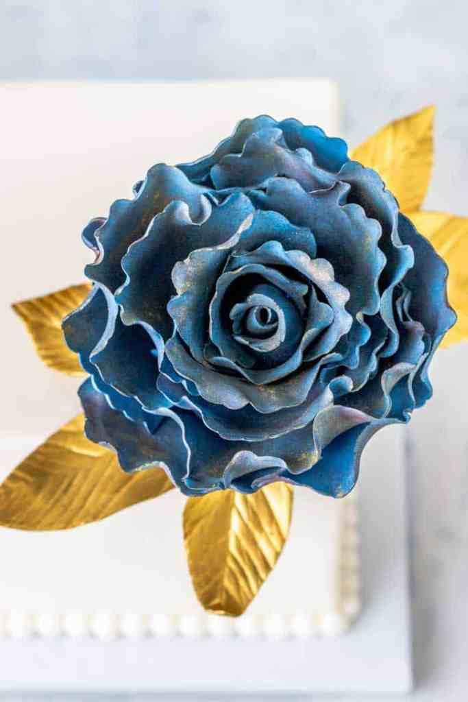 Ruffled Rose Gumpaste Fantasy Flower Close up