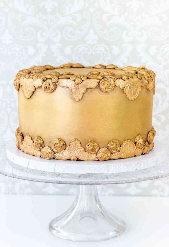 Antiqued Bas Relief Cake - I Scream for Buttercream