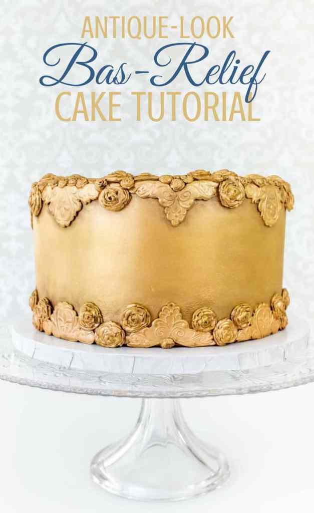 Antiqued Bas Relief Cake Pin
