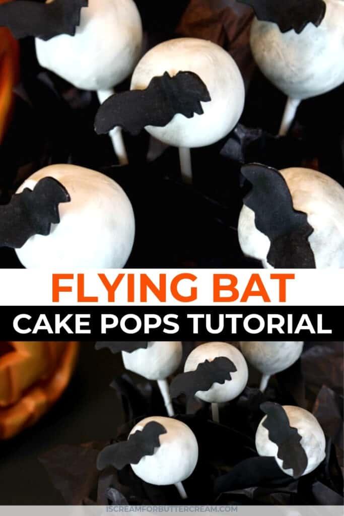 Flying bat cake pops pinterest graphic 1