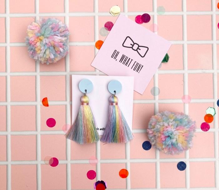 oh what fun rainbow earrings