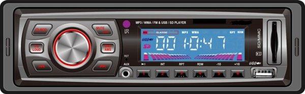VCAN0716 USB SD MP3 player FM radio 1 -