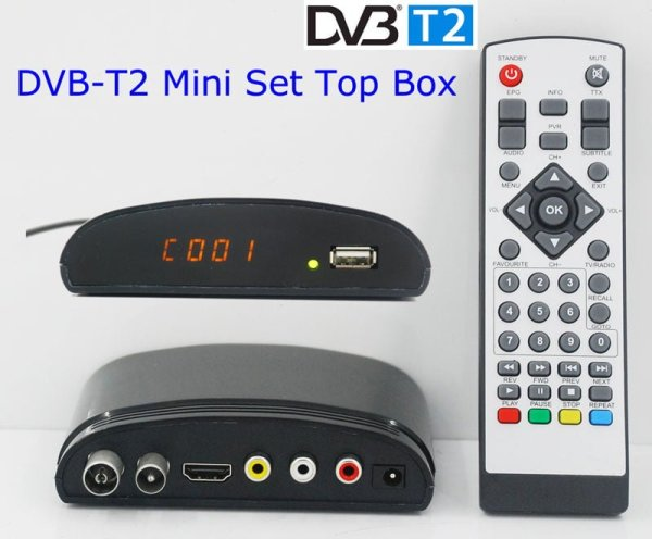 Digital TV receiver Set Top Box Home HDTV HDMI USB 1 -