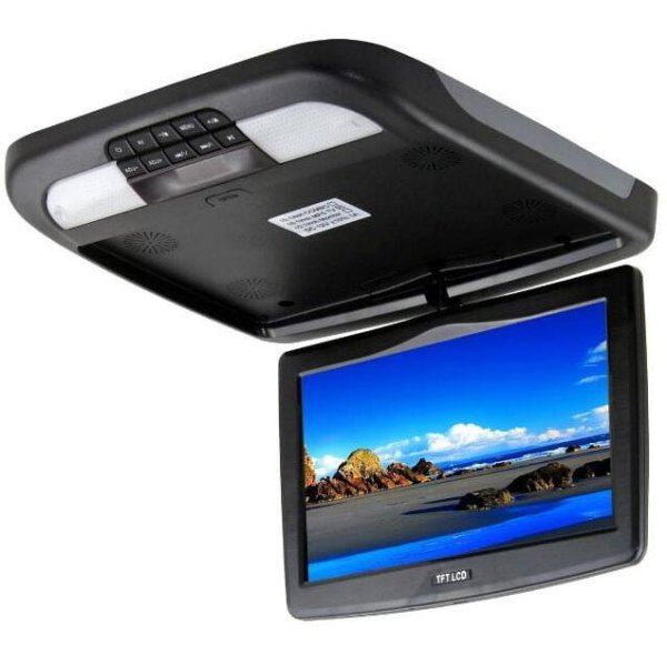 10.2 inch roof mount monitor usb sd dvd player ceiling flip down screen tm-1020 1 -
