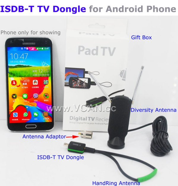 ISDB-T TV receiver USB Stick dongle for android Phone Pad Micro Tuner 1 -