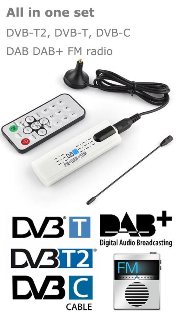 USB DVB-T2 PC DTV receiver DVB-T2 DVB-T DVB-C SDR FM DAB TV stick 4 -