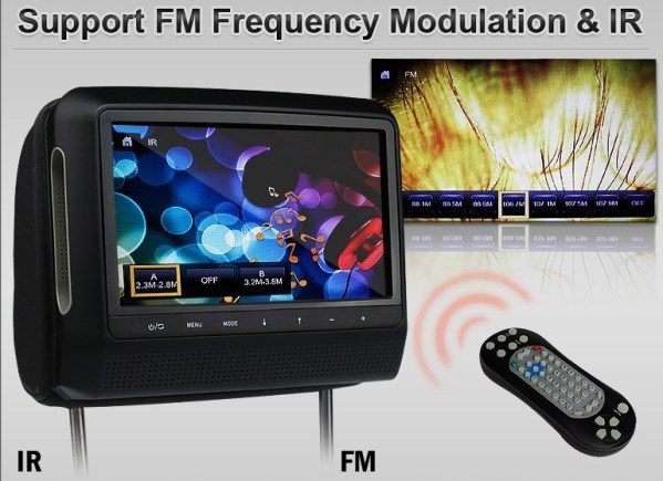 9 inch Headrest DVD touch screen USB SD Game MP5 player, IR FM 2 Speaker, 8-32 bits Game 4 -