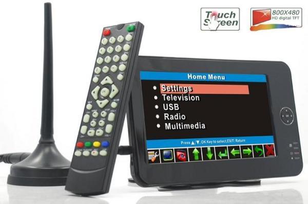 Portable handheld HD DVB-T dvb-t TV receive box 5 -