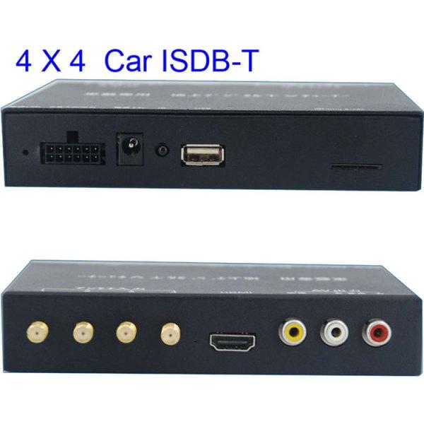 ISDB-T7800 Car four tuner ISDB-T Full One Segment four antenna Mini B-cas card 1 -