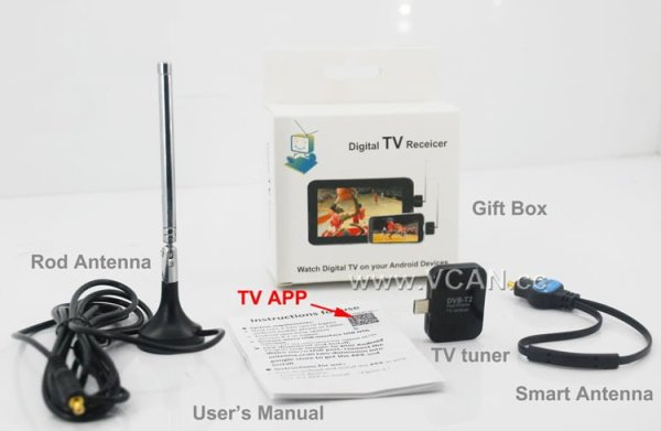 Micro USB Digital DVB-T DVB-T2 TV Tuner Receiver 6 -