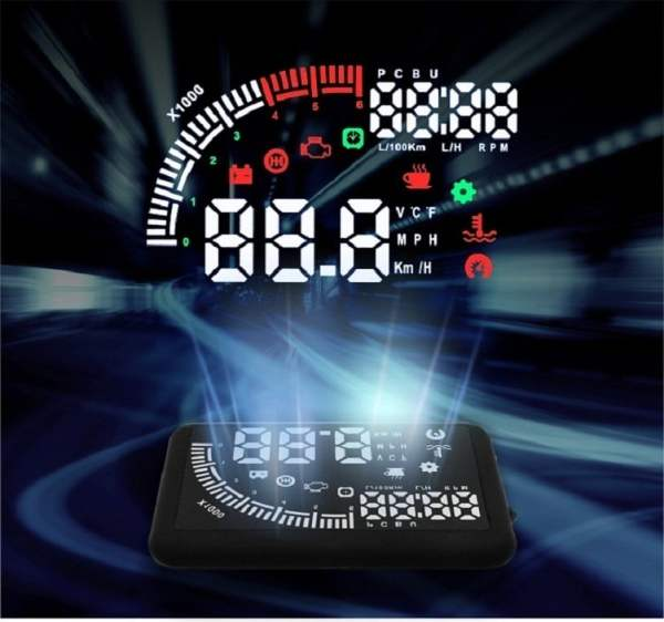 Car head up display Universal 5.5-inch LCD HUD 2 -
