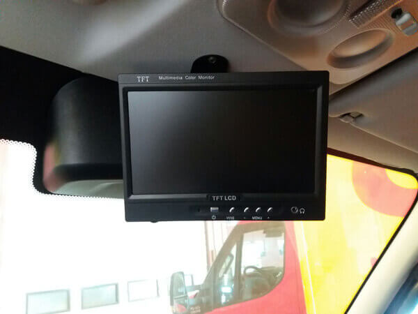 Car 7 inch TFT LCD Monitor 2CH Video Input for rear view camera TM-7003A 5 -
