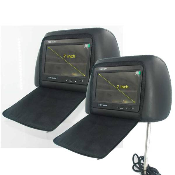 7 inch headrest monitor with pillow bag LED backlight cover zipper 2 -