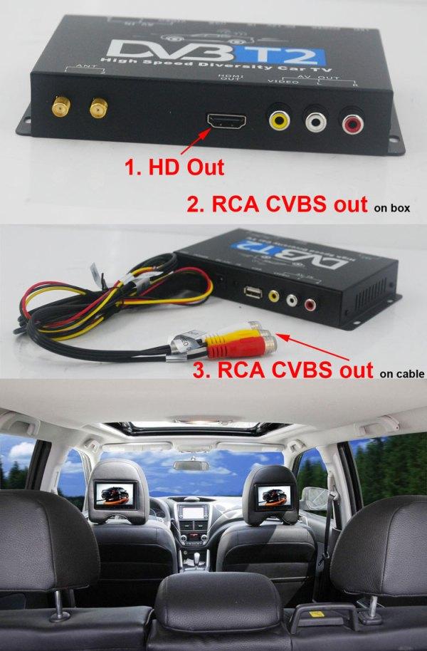 Car DVB-T2 DVB-T High Speed Digital TV Receiver automobile DTV box DVB-T221 3 -