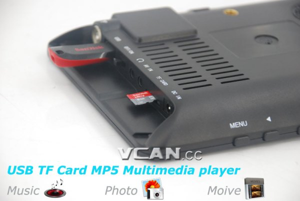 7 inch Digital TV Analog TV USB TF MP5 player 3 -