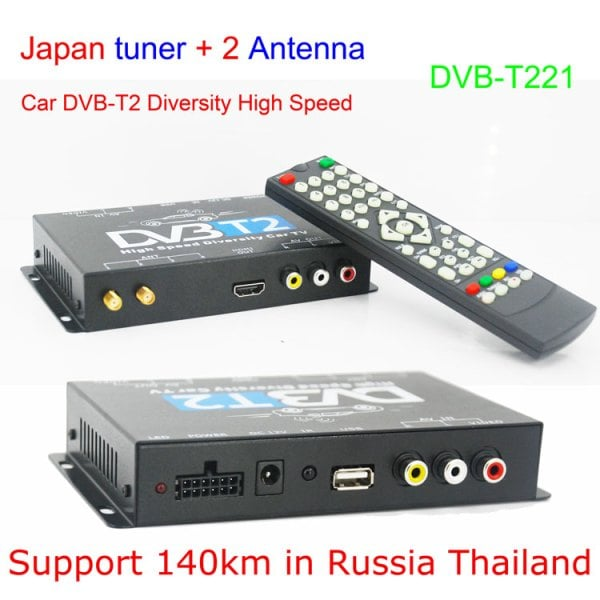 Mobil DVB-T2 Indonesia DVB-T High Speed Digital TV Receiver automobile DTV box DVB-T221 9 -