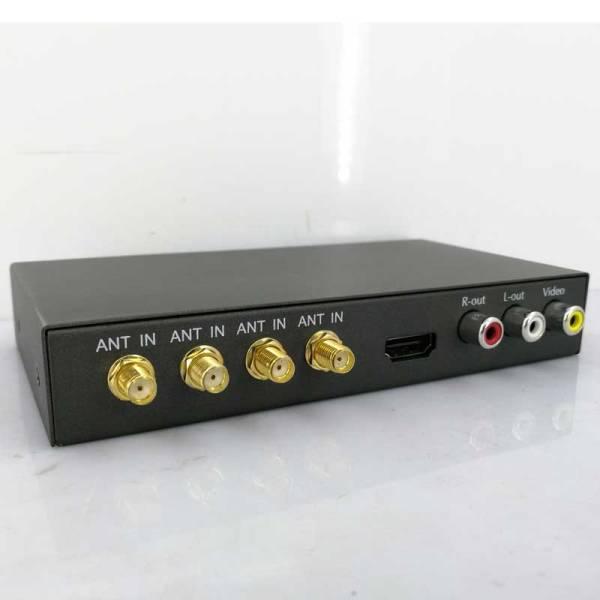 Car DVB-T COFDM 4 antenna DVB-T2 4 Tuner Siano Digital TV Video transmission Receiver diversity high speed set top box 1 -
