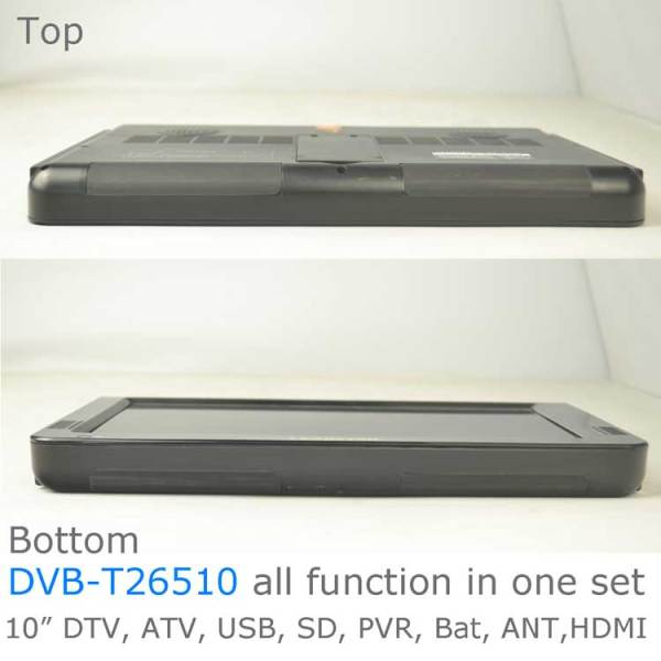 10 DVB-T2 H265 HEVC AC3 Codec Portable TV PVR Multimedia Player Analog kitchen bedroom car DVB-T26510 4 -