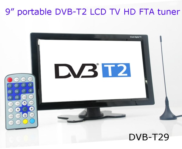 DVB-T29 9 inch portable DVB-T2 LCD TV monitor HD FTA Freenet H265 HEVC Codec 2 -