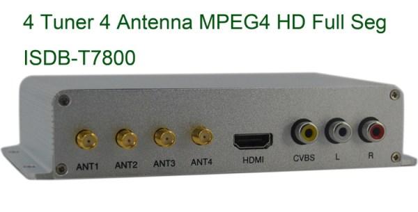 ISDB-T7800 Car four tuner ISDB-T Full One Segment four antenna Mini B-cas card 5 -