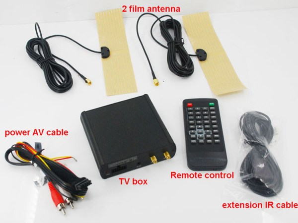 Car ISDB-T 2 tuner Full Segment dual antenna for Brazil Philippines Chile ISDB-T8800 4 -
