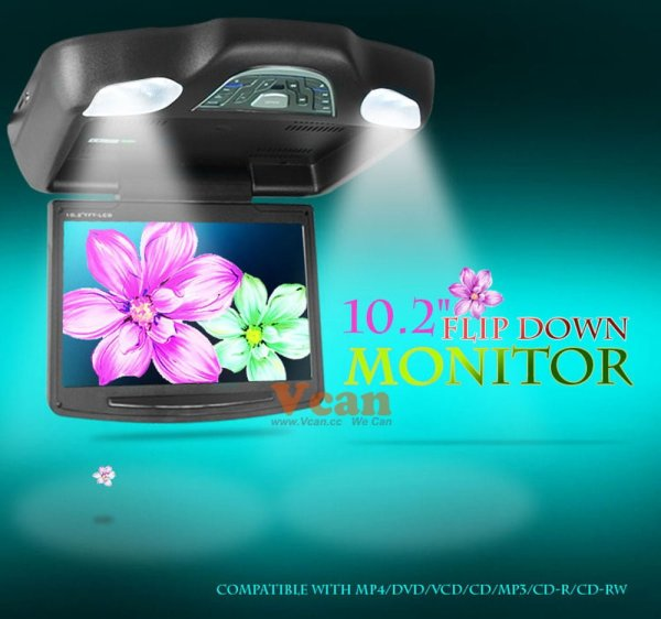 10.2 inch roof mount monitor usb sd dvd player ceiling flip down screen tm-1020 6 -
