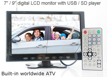 9 inch monitor with USB SD mp5 player Vcan0951 1 -
