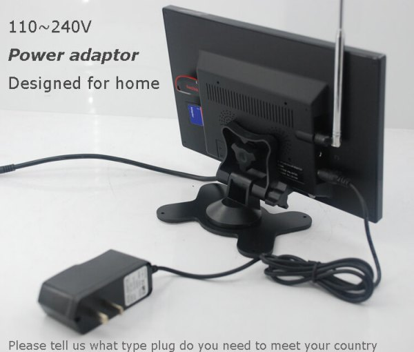 9 inch monitor with USB SD mp5 player Vcan0951 7 -