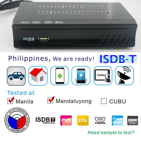 Philippines Home ISDB-T Digital TV Receiver 3 -