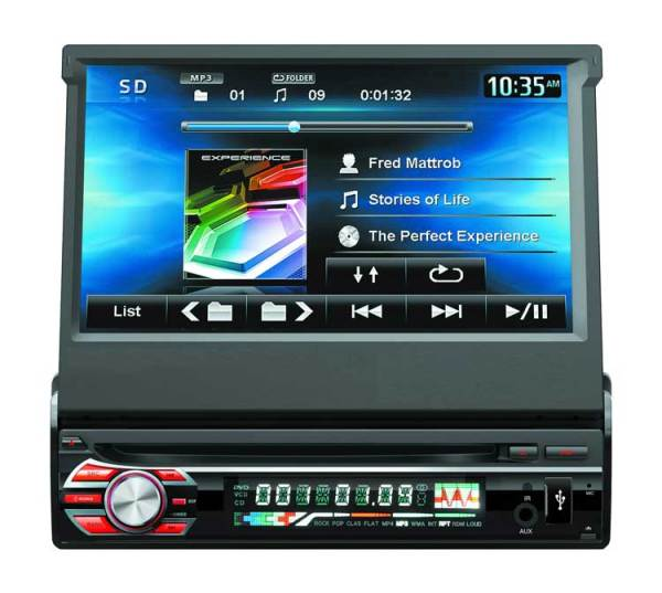 7inch 1 din car DVD player with digital touchscreen VCAN1366 1 -