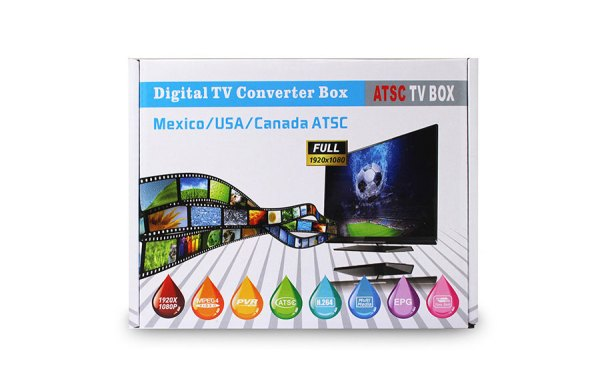 Mexico ATSC TV Receiver Digital TV MPEG4 HDMI USB PVR VCAN1078 for USA Canada 7 -